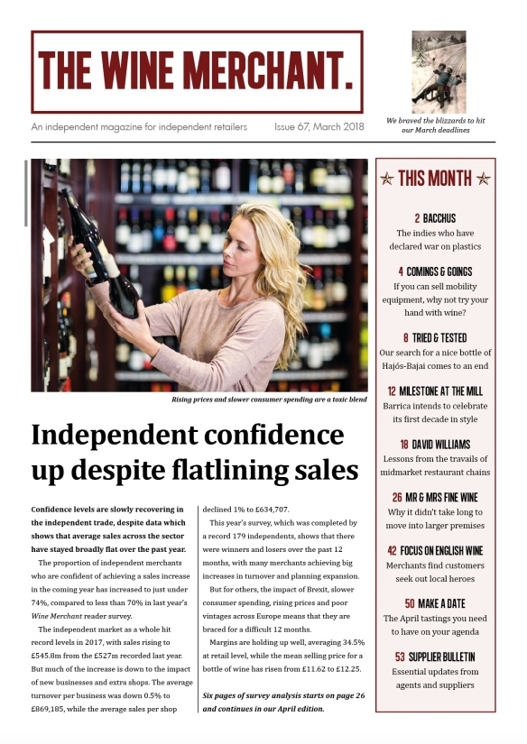 The Wine Merchant issue 67 front page